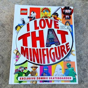 LEGO I LOVE THAT MINIFIGURE Book with ZOMBIE SKATEBOARDER Minifigure